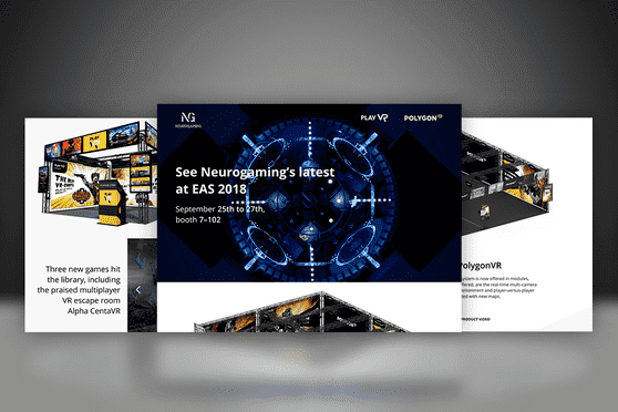 Landing page specially designed for product presentation at an international exhibition